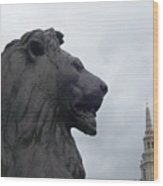Strong Lion Wood Print