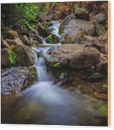 Strongs Canyon Cascades Wood Print
