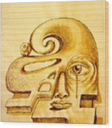 Structure Of Thought Wood Print by Paulo Zerbato