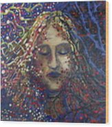 Struggle Of Blue Wood Print