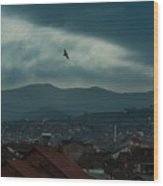 Strumica Blue Wood Print