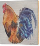 Strutting Rooster Wood Print