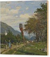 Strutzel, Otto 1855 Dessau - 1930   On The Way Home. In The Background The Steeple Of Garmisch-parte Wood Print
