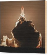 Sts-128 Night Launch Wood Print