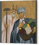 Sts. Isidore And Maria - Rliam Wood Print