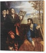 Sts John And Bartholomew With Donors 1527 Wood Print