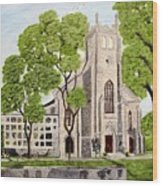 St.Thomas Anglican Church Belleville Circa1821 Wood Print