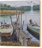 Stuart's Dock  Wood Print