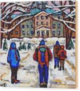 L'art De Mcgill University Tableaux A Vendre Montreal Art For Sale Petits Formats Mcgill Paintings  Wood Print