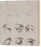 Studies Eyes Anonimo, Blooteling Abraham Wood Print