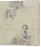 Studies Of Children And Some Adults, Cornelis Kruseman, 1814 Wood Print
