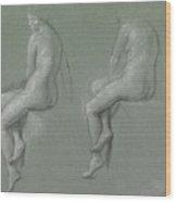 Studies Of The Nude Wood Print