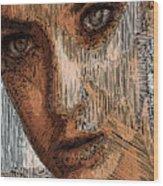 Studio Portrait In Pencil  Wood Print