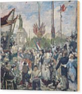 Study For Le 14 Juillet 1880 Wood Print