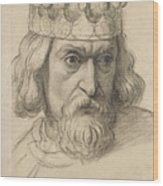 Study For The Head Of A Counsellor Wood Print