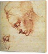 Study For The Head Of Leda Wood Print