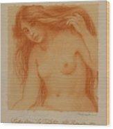 Study From La Toilette After Renoir Wood Print