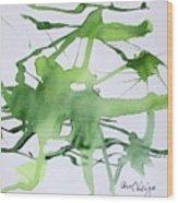 Study In Green Wood Print