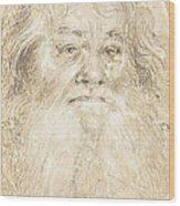 Study Of A Bearded Man [verso] Wood Print