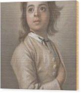 Study Of A Boy In Half Length, Jean-etienne Liotard, 1736 - 1738 Wood Print