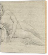 Study Of A Female Nude  Wood Print