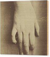 Study Of A Hand Wood Print