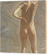 Study Of A Nude Boy Wood Print