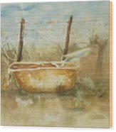 Study Of A Watering Tub Wood Print