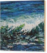 Study Of A Wave Wood Print