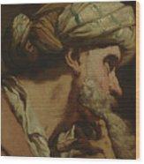 Study Of An Oriental Head Wood Print