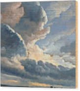 Study Of Clouds With A Sunset Near Rome Wood Print