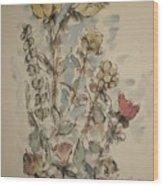 Study Of Flowers O Wood Print