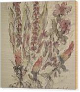 Study Of Flowers S Wood Print