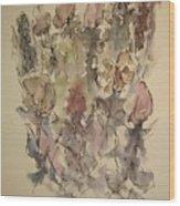 Study Of Flowers T Wood Print