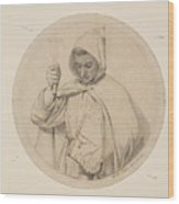 Study Of Monk Representing The Catholic Faith Wood Print