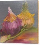 Study Of Onions Wood Print