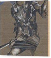 Study Of Perseus In Armour For The Finding Of Medusa Wood Print