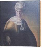 Study Of Rembrant Man In Turban Wood Print