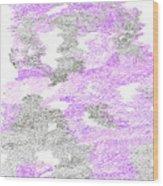 Study Purple And Gray Wood Print