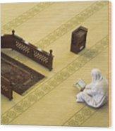 Studying The Quran Wood Print