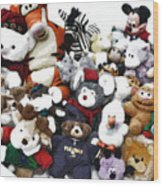 Stuffed Animals Wood Print