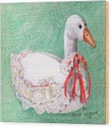 Stuffed Goose Wood Print