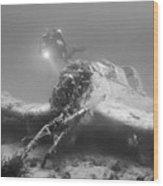 stuka bomber wreck II Wood Print