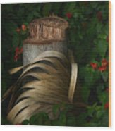 Stump And Frond Wood Print