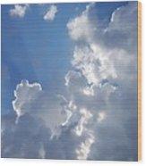 Stunning Clouds  Wood Print