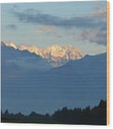 Stunning Photo Of The Countryside With Mountains  Wood Print