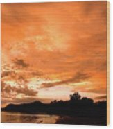 Stunning Tropical Sunset Wood Print