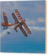 Stunt Biplanes With Wingwalkers Wood Print