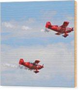 Stunt Pilots Wood Print