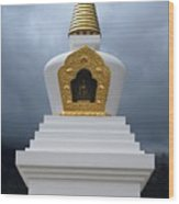 Stupa Of Enlightenment 1 Wood Print